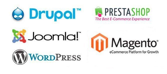 CMS, ecommerce, Drupal, Joomla, Wordpress, Prestashop, Magento