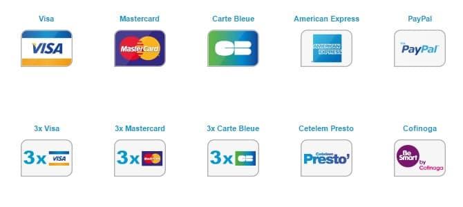 Solutions de paiement par CB, VISA, Mastercard, Paypal