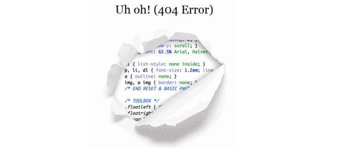 Erreur 404 nuit au référencement SEO