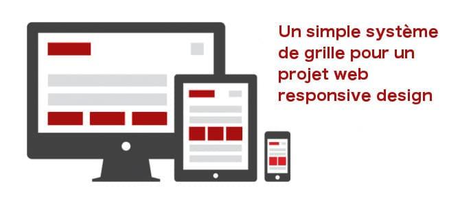 Système en grille pour site internet Responsive design