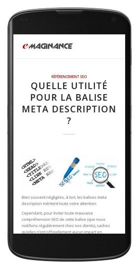 Application eMaginance Android disponible sur Google Play