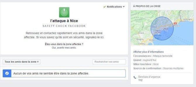 Nice Facebook Safety Check