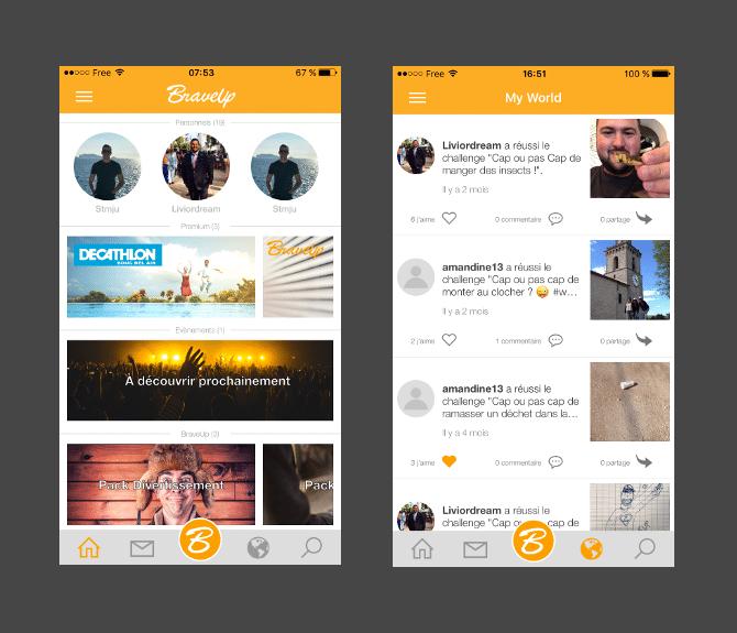 Application iOS BraveUp