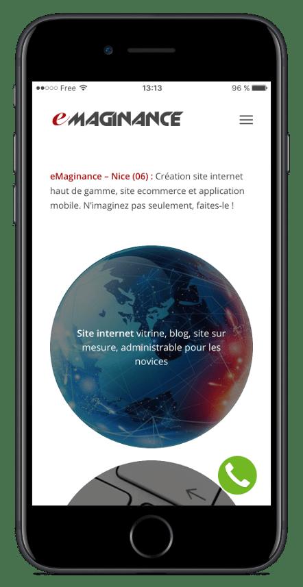 iOS Simulator eMaginance - Nice