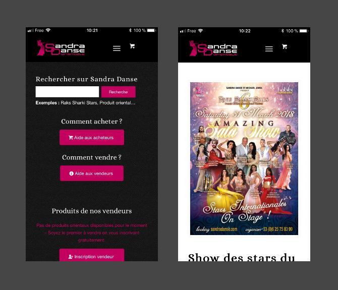 Application iOS et Android Sandra Danse