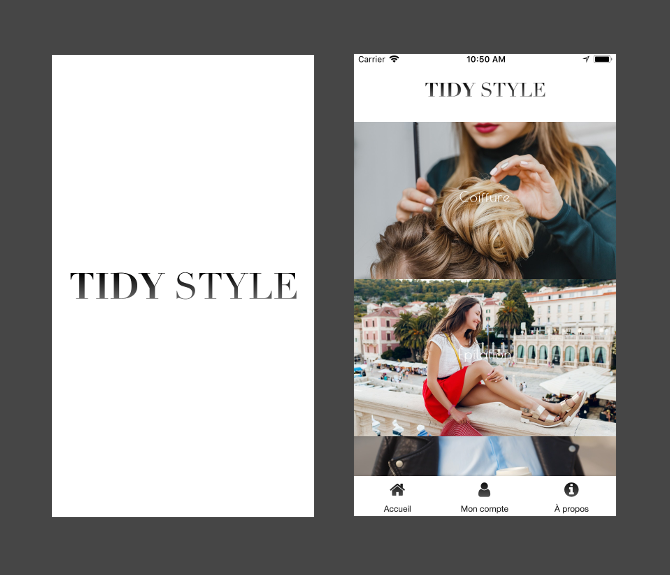 Tidy Style application iOS et Android