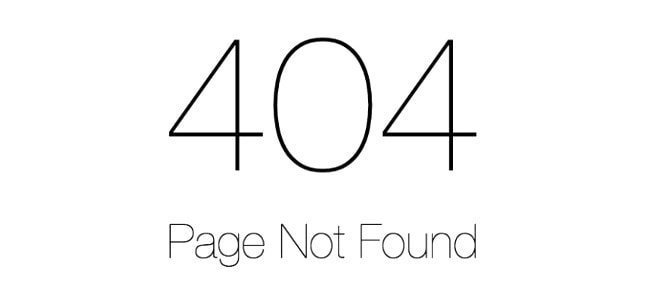 Gestion de l'erreur 404 sur un site internet
