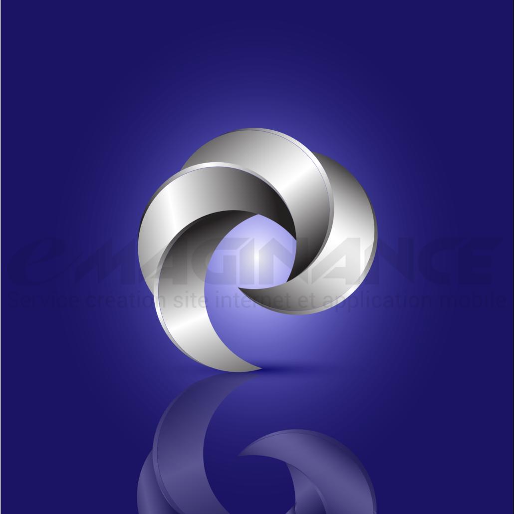 Acier 3D Logo Design