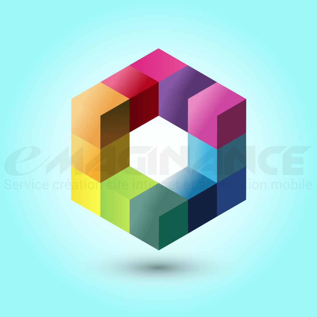Cubes 3D Logo Design