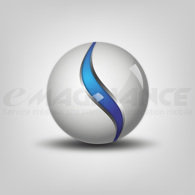 Glossy Ball 3D Logo Graphic Design