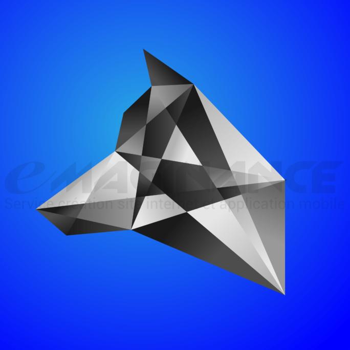 Loup Vector Polygon Logo