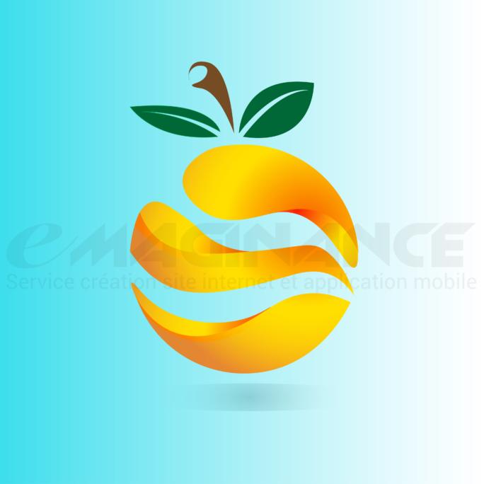 Orange 3D Logo Design