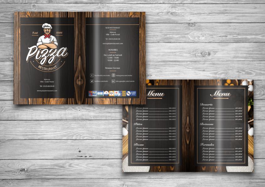 Restaurant Menu Half Fold Brochure