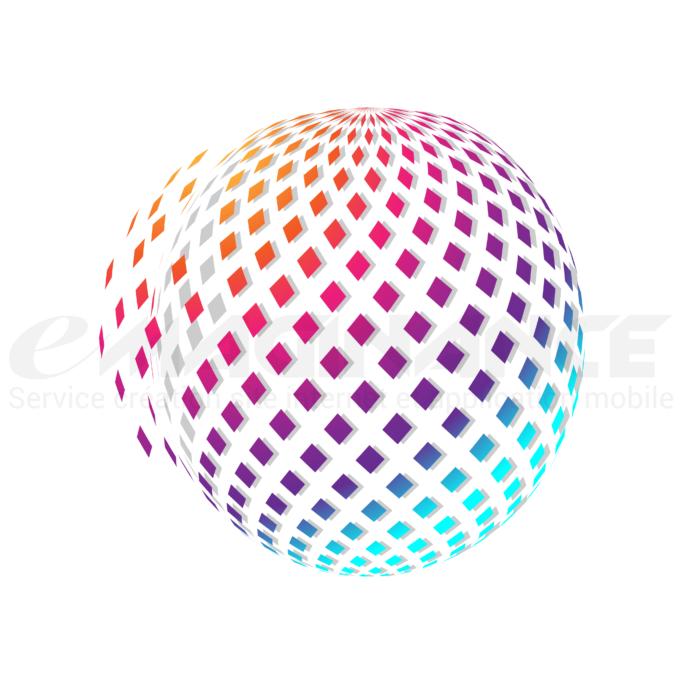 Globe Arc-en-ciel 3D Logo Design
