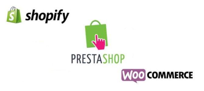 Shopify, Prestashop et Woocommerce